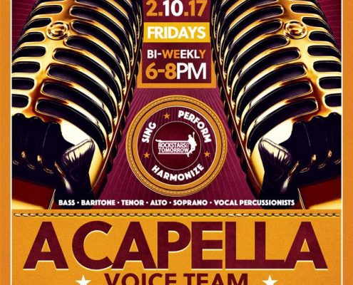 A Capella Voice Team Flyer